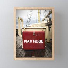 Leeuwin Fire Hose Box Framed Mini Art Print