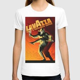 "Vintage Lavazza Italian Pagliacci ""Clown"" Coffee Lithograph Advertisement Poster T-shirt"