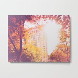 New York City Sunset Metal Print