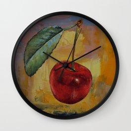 Vintage Cherry Wall Clock