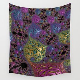 colorful Fractal Wall Tapestry