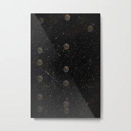 Moon Multiple Exposure Metal Print