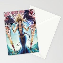 Goddess of birds Stationery Cards