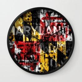 Maryland Flag Print Wall Clock