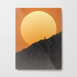 Strange Frontier: Wall of Stone (Sunset) Metal Print