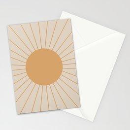 Minimal Sunrays Stationery Cards