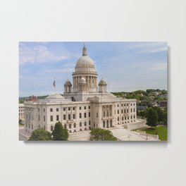 State House Capital Building of Providence, Rhode Island Metal Print