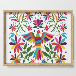 Colorful ,mexican, traditional, textile, embroidery ,style  Serving Tray