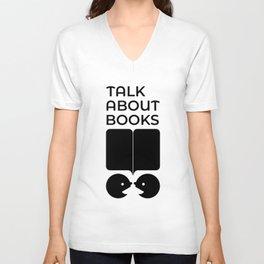 Talk About Books (Fill) Unisex V-Neck