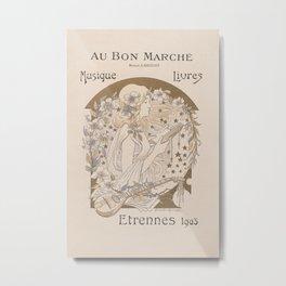 French Art Deco Poster Metal Print