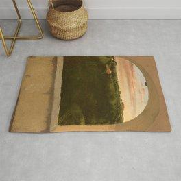 "Edgar Degas ""Paysage d'Italie vu par une lucarne"" Rug"