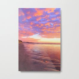 Life's a Beach, A Pink Beach by Reay of Light Photography Metal Print