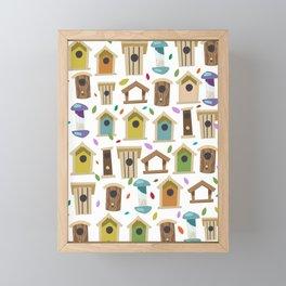 Bird Feeders Framed Mini Art Print