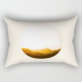 Sepia Sunset Mountains Silhouette Rectangular Pillow