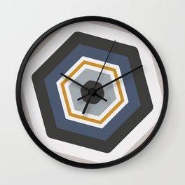 hexagon purple Wall Clock