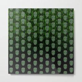Skull Hacker (pattern version) Metal Print