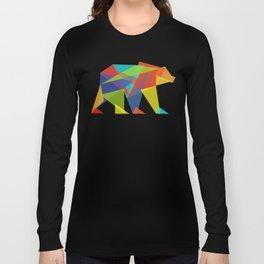 Fractal Geometric bear Langarmshirt