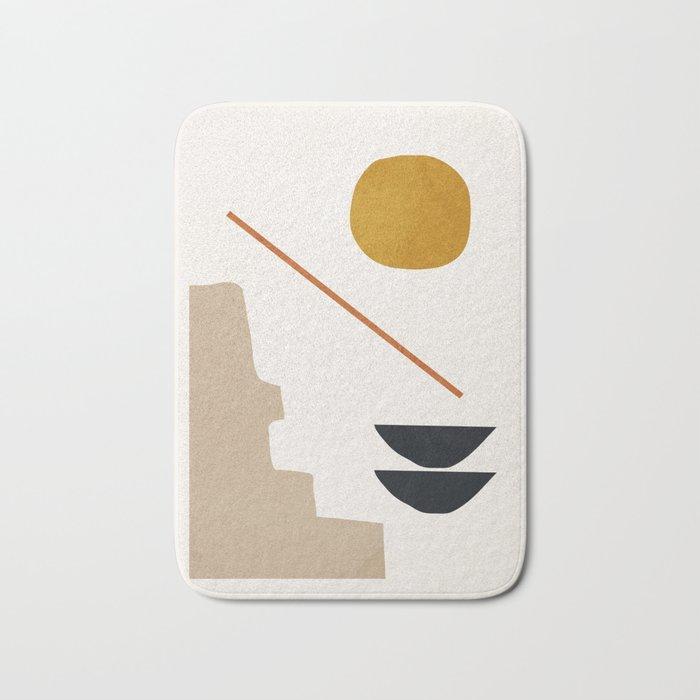 abstract minimal 6 Bath Mat