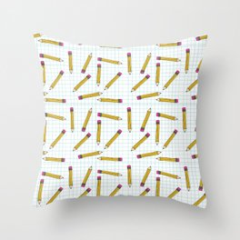 Pencils, Pencils Everywhere! Throw Pillow