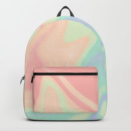 abstract rainbow gradient blurry background Backpack