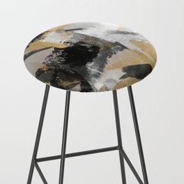 Gold leaf black, geometrical abstract Bar Stool