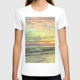 Coastal Newport, Rhode Island Landscape Painting by William Trost Richards T-shirt