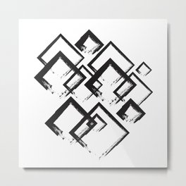 abstract geometry rectangles Metal Print