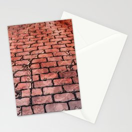 Vintage Brick Street Stationery Cards
