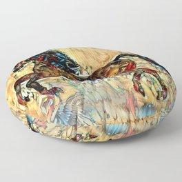 Painted Pony Floor Pillow