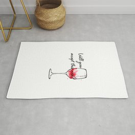 Will You Accept This Rose Charming Proposal Design Rug