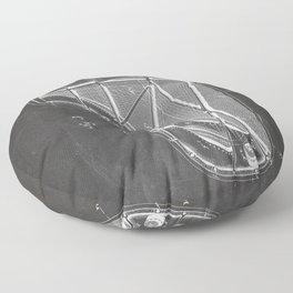 Steinway Piano Patent - Piano Player Art - Black Chalkboard Floor Pillow