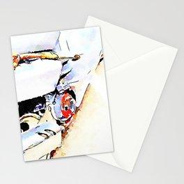 Barbarano Romano: motorcycle with truffle stick Stationery Cards