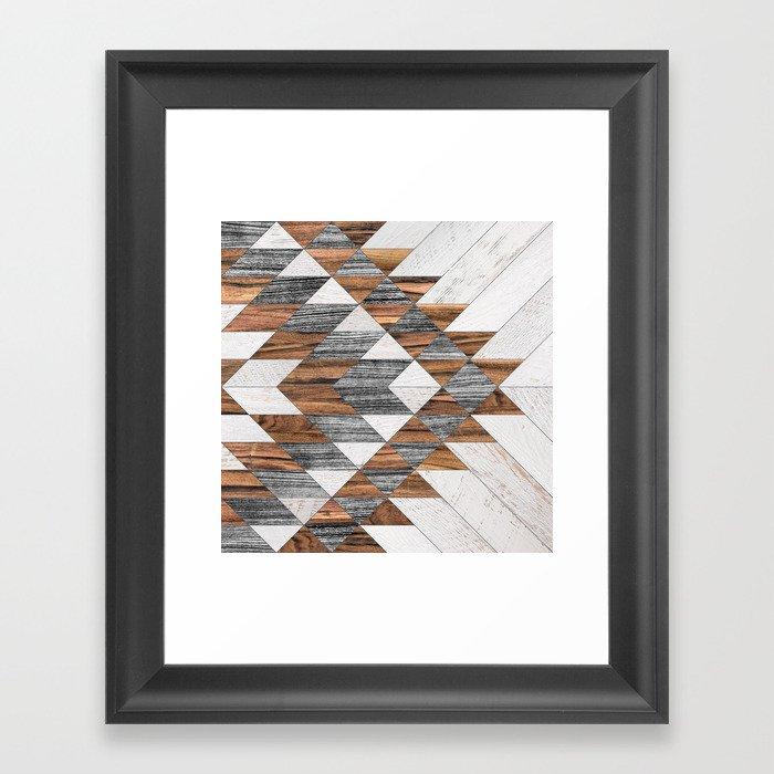 Urban Tribal Pattern No.12 - Aztec - Wood Gerahmter Kunstdruck