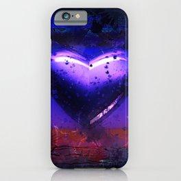 Violet damaged heart iPhone Case