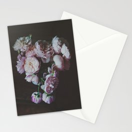 English Roses Still Life - Dark Number One Stationery Cards