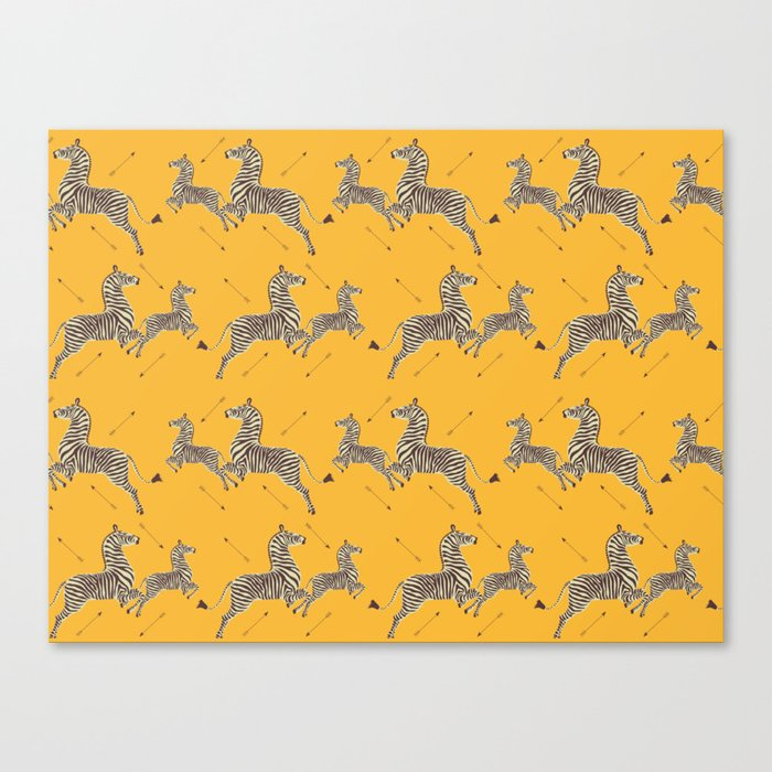Royal Tenenbaums Zebra Wallpaper - Mustard Yellow Leinwanddruck