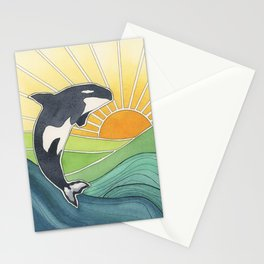 Westcoast Orca Stationery Cards