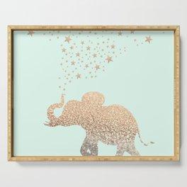 ELEPHANT - GOLD MINT Serving Tray