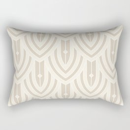 Deco Peacock - Cream Rectangular Pillow