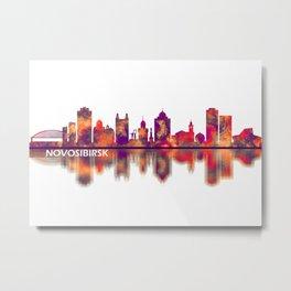 Novosibirsk Russia Skyline Metal Print