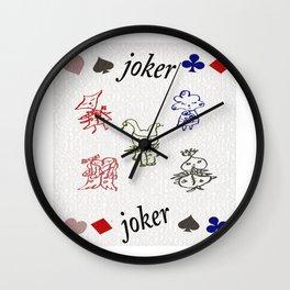 """""""POKER"""" sentient beings Wall Clock"""
