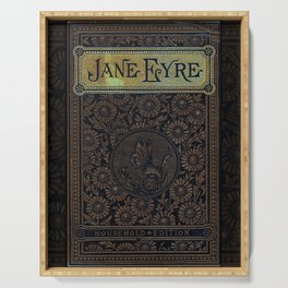 Jane Eyre by Charlotte Bronte, Vintage Book Cover Serving Tray