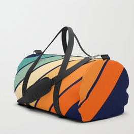 Farida - 70s Vintage Style Retro Stripes Duffle Bag