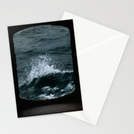 Wave out of a window of a ship – Minimalist Oceanscape Stationery Cards