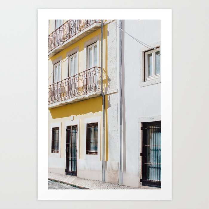 """Travel Photography """"Streetview Lisbon"""" from the Take Me To Portugal photo Print Collection Art Print"""