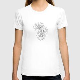 Daisies botanical illustration - Jo T-shirt