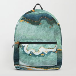 Gold Turquoise Agate Backpack