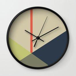 bandana || camou & coral Wall Clock