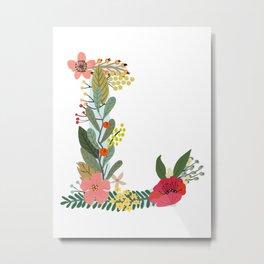 Monogram Letter L Metal Print