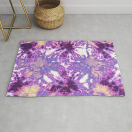 Tie-Dye Linen Bloom Rug